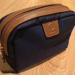 Bogner Travel Bag Zip Pouch Purple and Beige